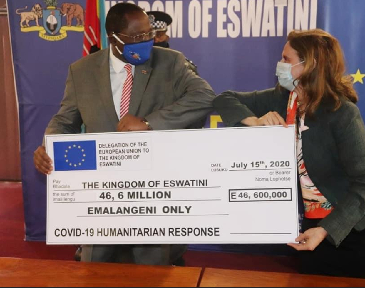 European Union (EU) Eswatini donates E46.6 million towards food assistance to counter COVID-19 effects
