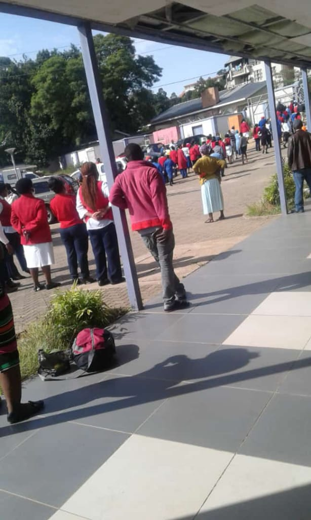 Patients, nurses  run for cover at Mbabane Government Hospital after arrival of CoronaVirus suspected case.