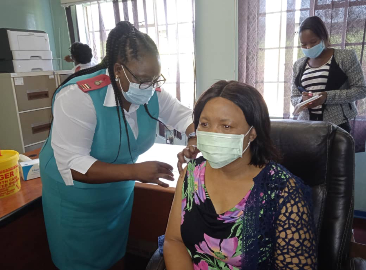Health Minister Lizzie Nkosi vaccinated, nurses President rejects AstraZeneca vaccines